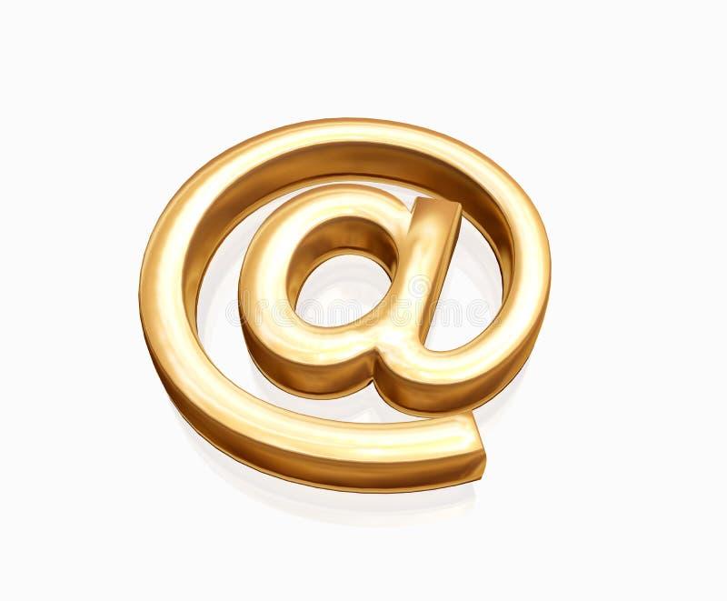 złota poczty e royalty ilustracja