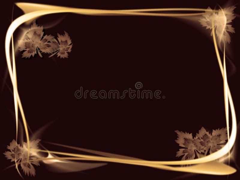 złota ramowy światło ilustracji