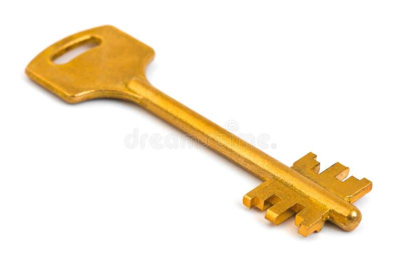 złota retro kluczowy obraz stock