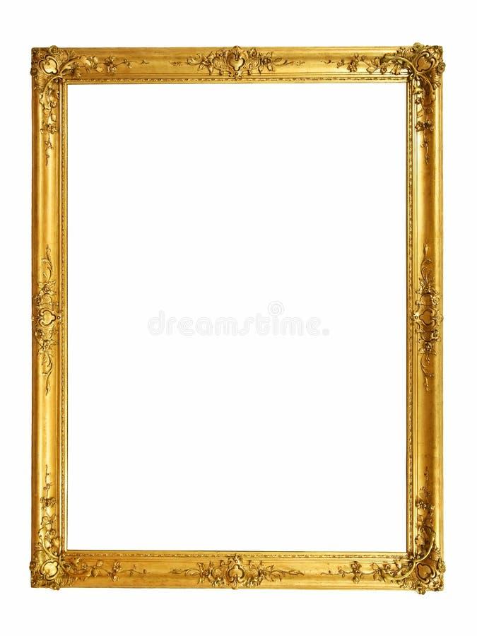 Złota rocznik rama fotografia royalty free