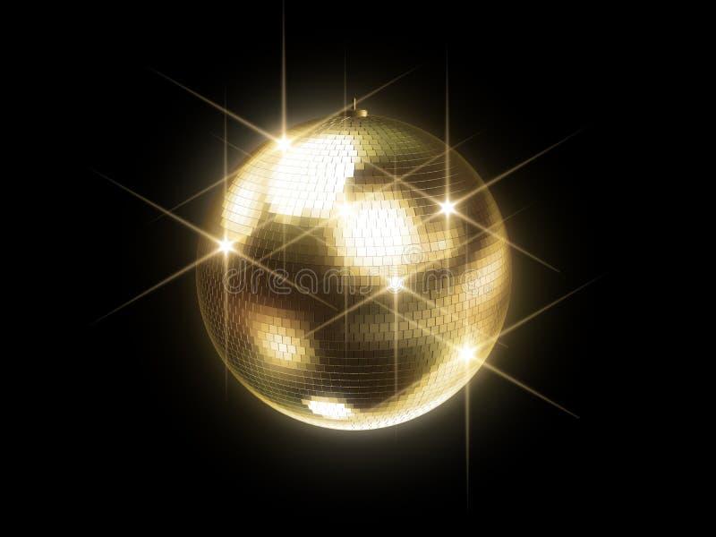 złota sfera disco ilustracja wektor