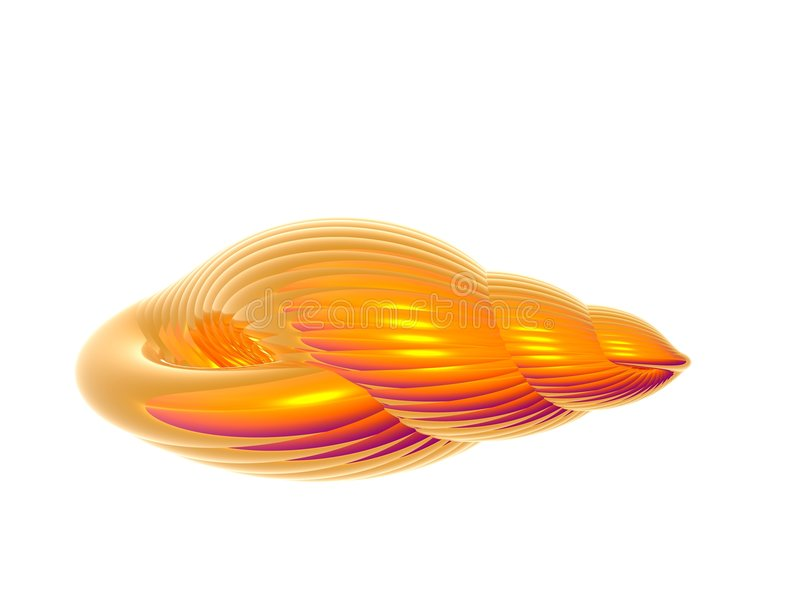 złota skorupa ilustracji