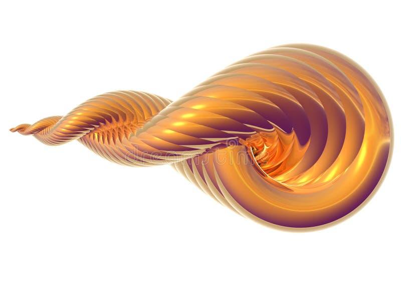 złota skorupa ilustracja wektor