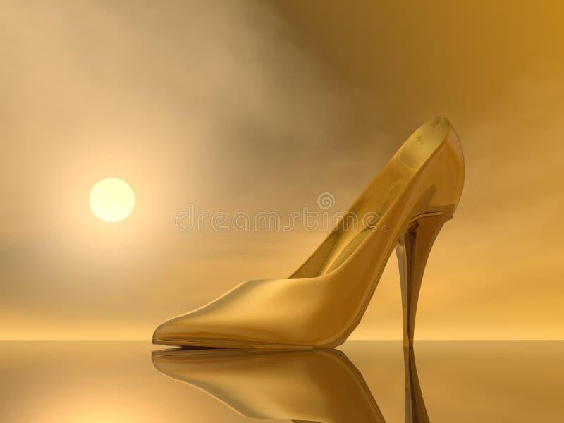 Złota szpilki - 3D odpłacają się ilustracji