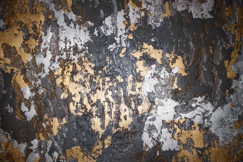 Złota tła srebna ściana zdjęcie stock