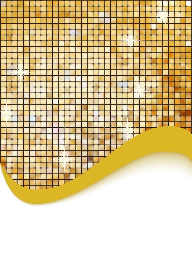 złota tło mozaika ilustracja wektor