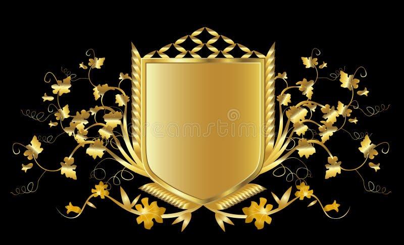 złota tarcza royalty ilustracja