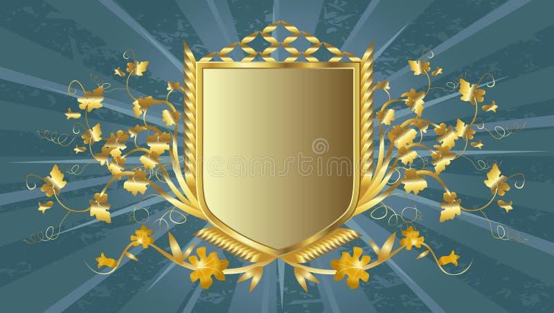 złota tarcza ilustracji