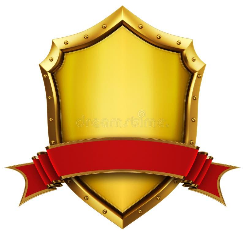 złota tasiemkowa osłona ilustracji