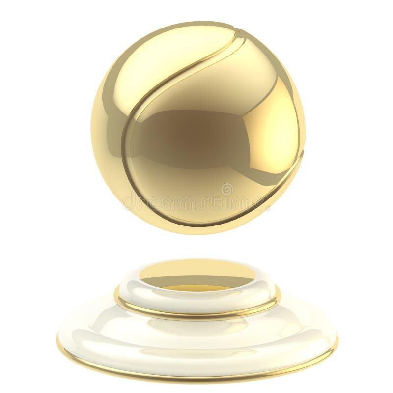 Złota tenisowej piłki mistrza czara royalty ilustracja