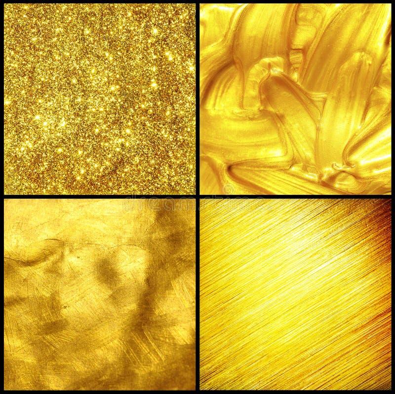 złota ustalona tekstura fotografia stock