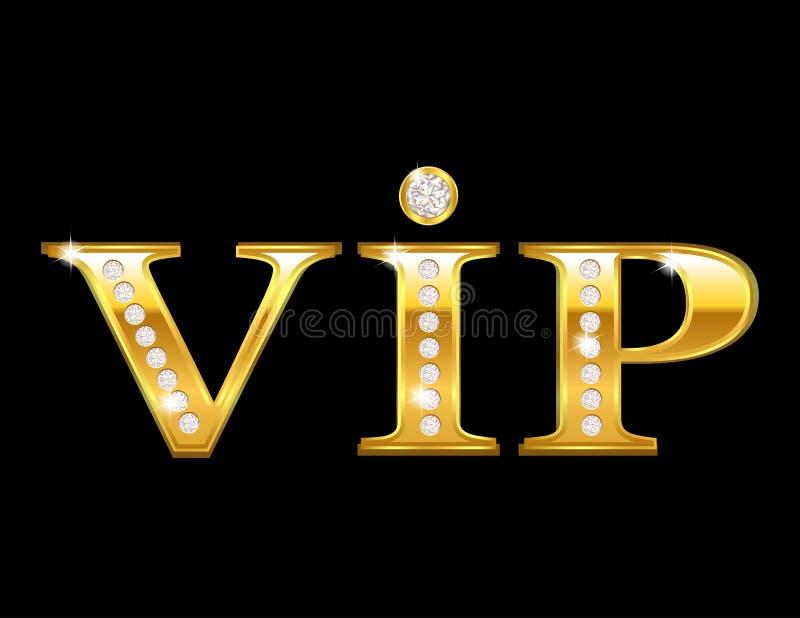 Złota Vip karta royalty ilustracja