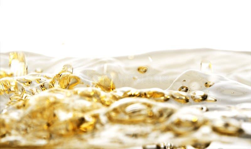 złota woda fotografia stock