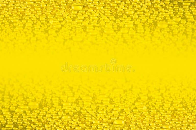 Złota woda opuszcza tło royalty ilustracja