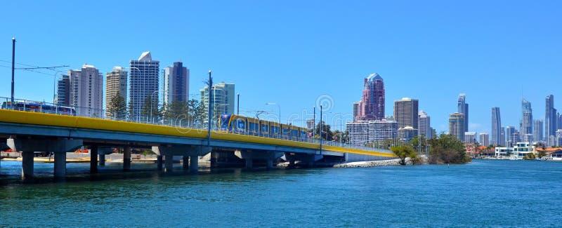 Złota wybrzeża światła poręcz G - Queensland Australia zdjęcia royalty free