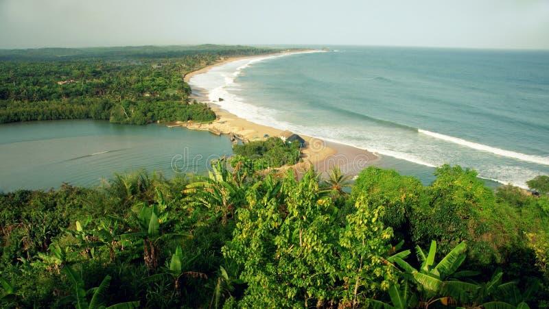 Złota wybrzeża krajobraz Ghana obrazy royalty free