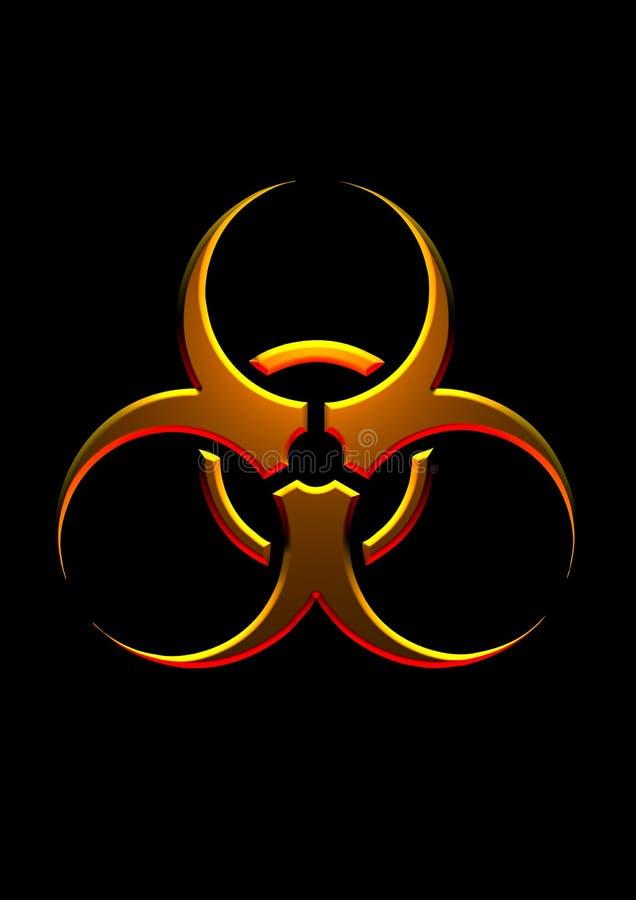 złota zagrożenie symbol ilustracja wektor