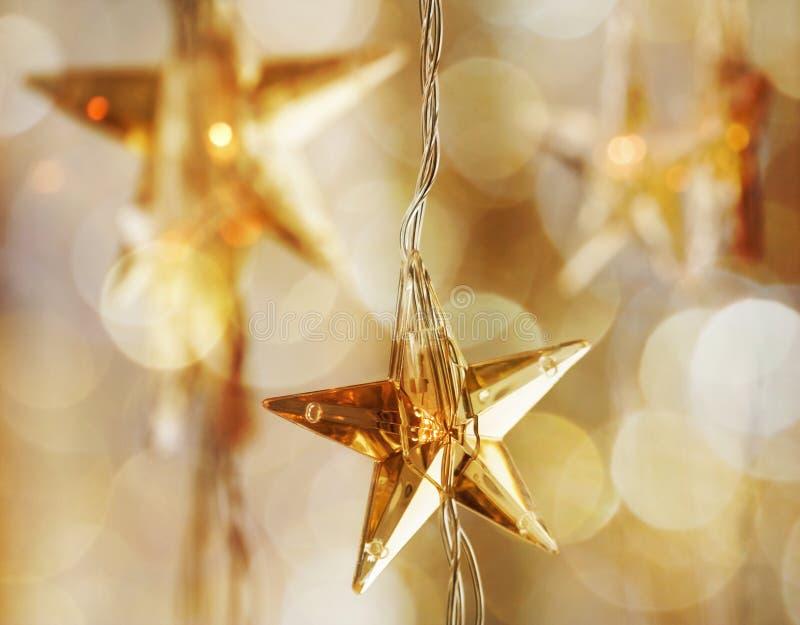 złote Boże Narodzenie gwiazdy obraz stock