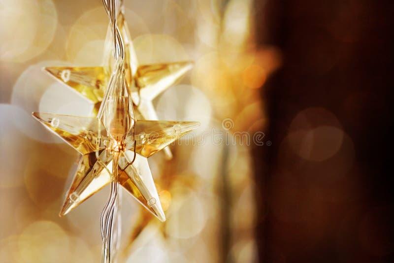 złote Boże Narodzenie gwiazdy obraz royalty free