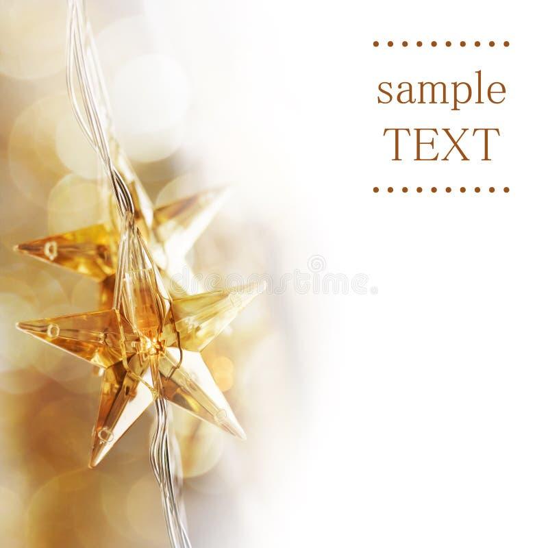 złote Boże Narodzenie gwiazdy zdjęcie royalty free