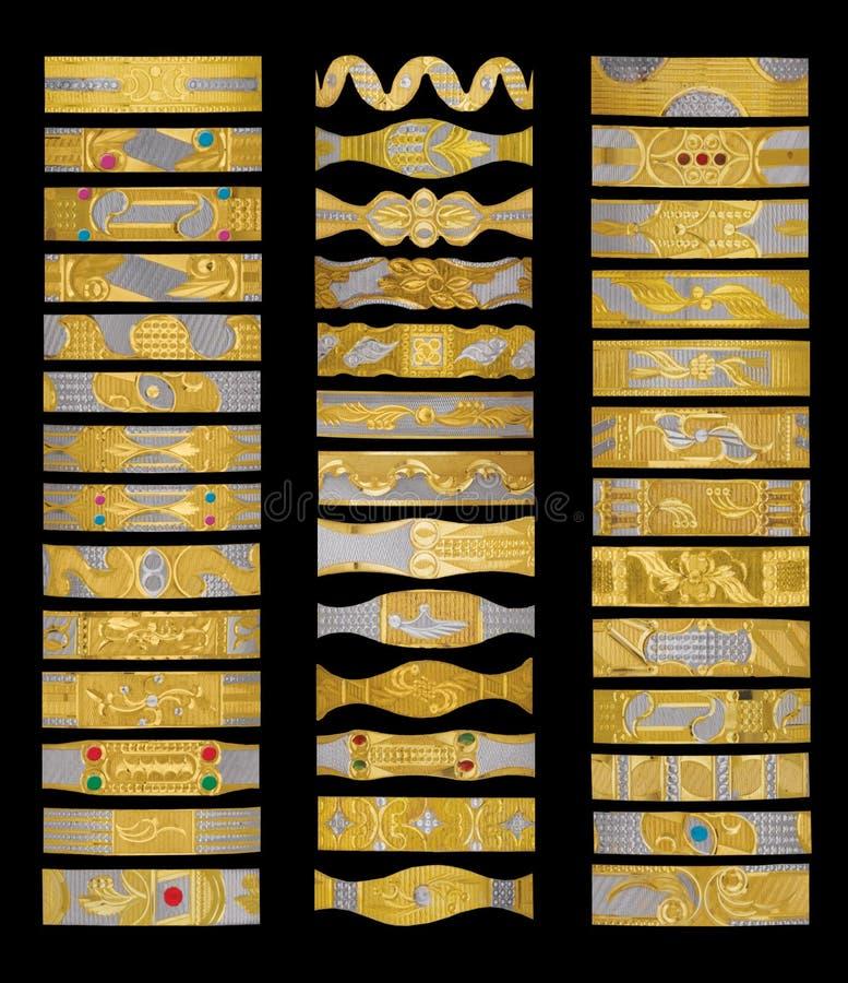 złote bransoletki zdjęcia royalty free