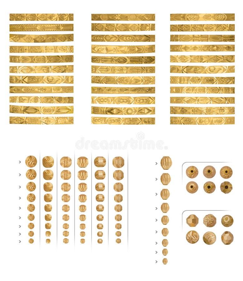 złote bransoletki zdjęcie stock