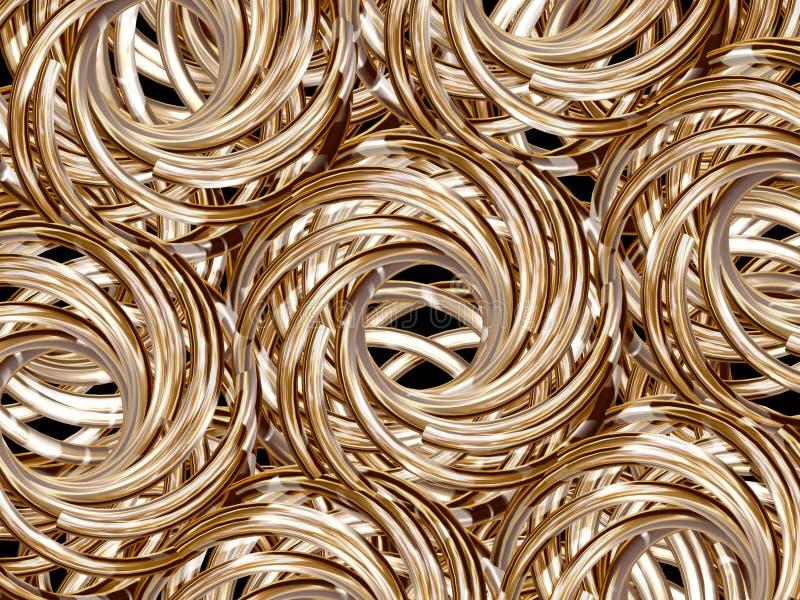 złote bułeczki royalty ilustracja