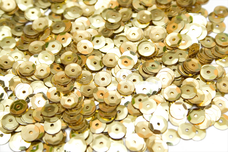 złote confettis obraz royalty free