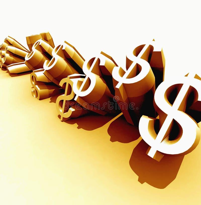 złote dolarów. royalty ilustracja