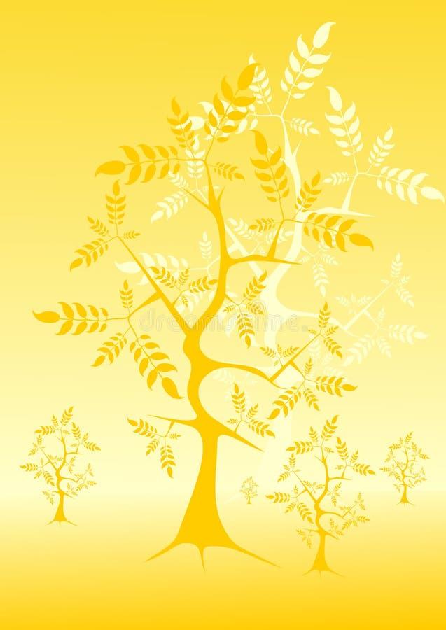 złote drzewo royalty ilustracja