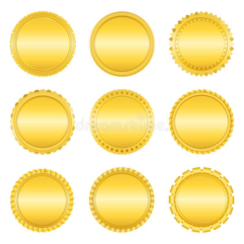 Złote etykietki royalty ilustracja