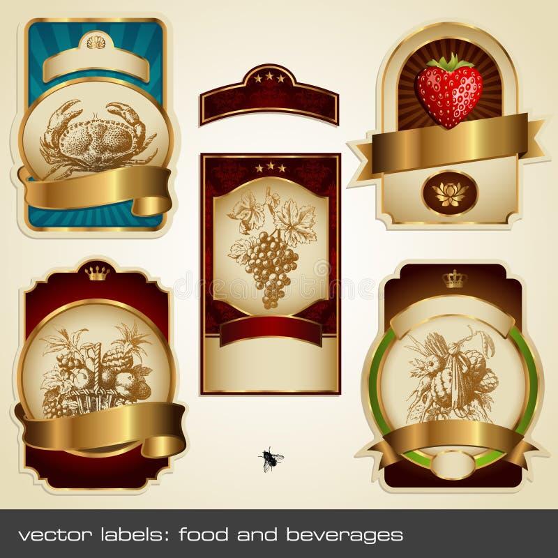 złote etykietki ii ilustracji