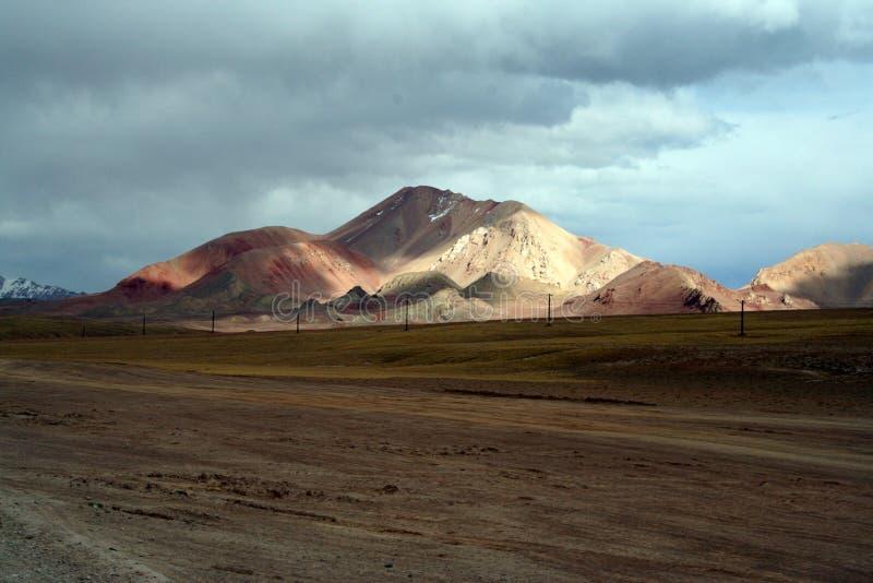 złote górskie moutain pamirs Tibet zdjęcia stock