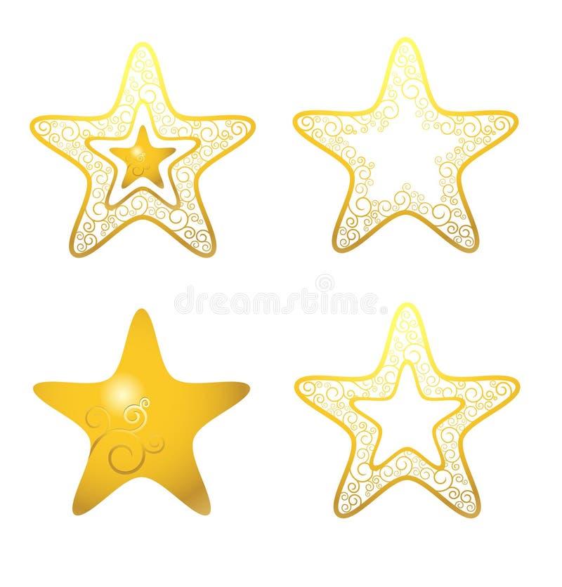 złote gwiazdy obrazy stock
