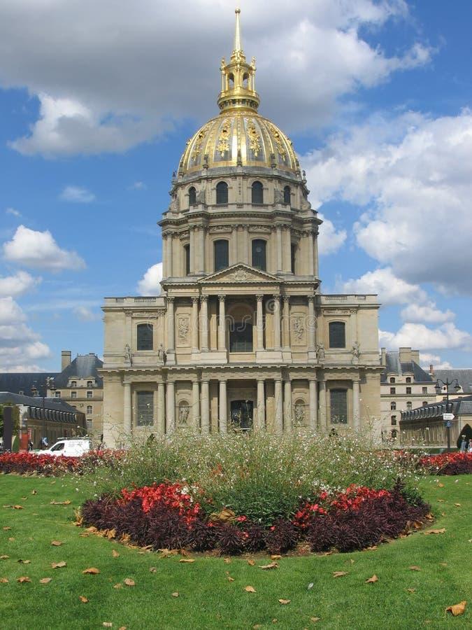 złote invalides kopuł les Paryża zdjęcie stock
