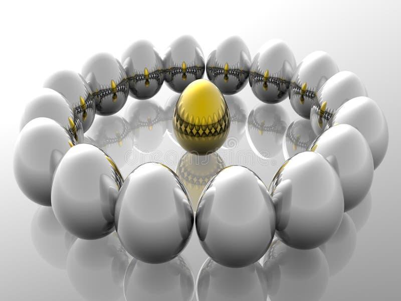 złote jajko wyjątkowy ilustracja wektor