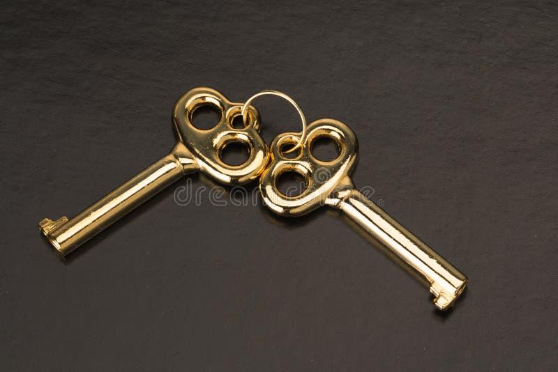 złote klucze obraz royalty free