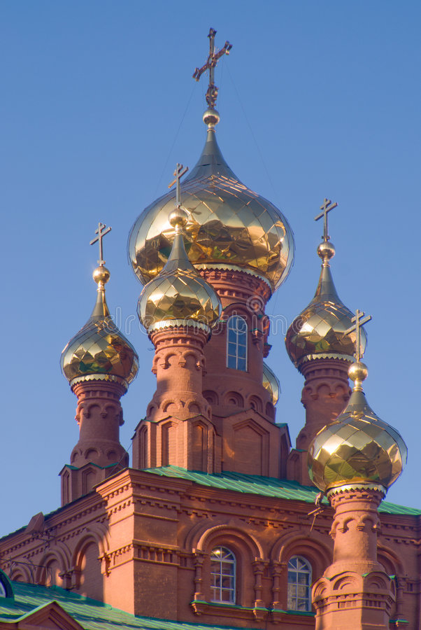 złote kopuły zdjęcie royalty free