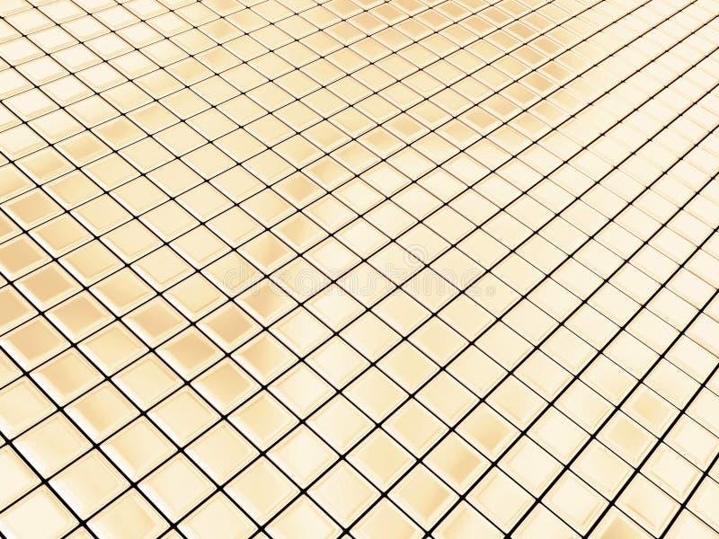 złote kwadraty ilustracja wektor