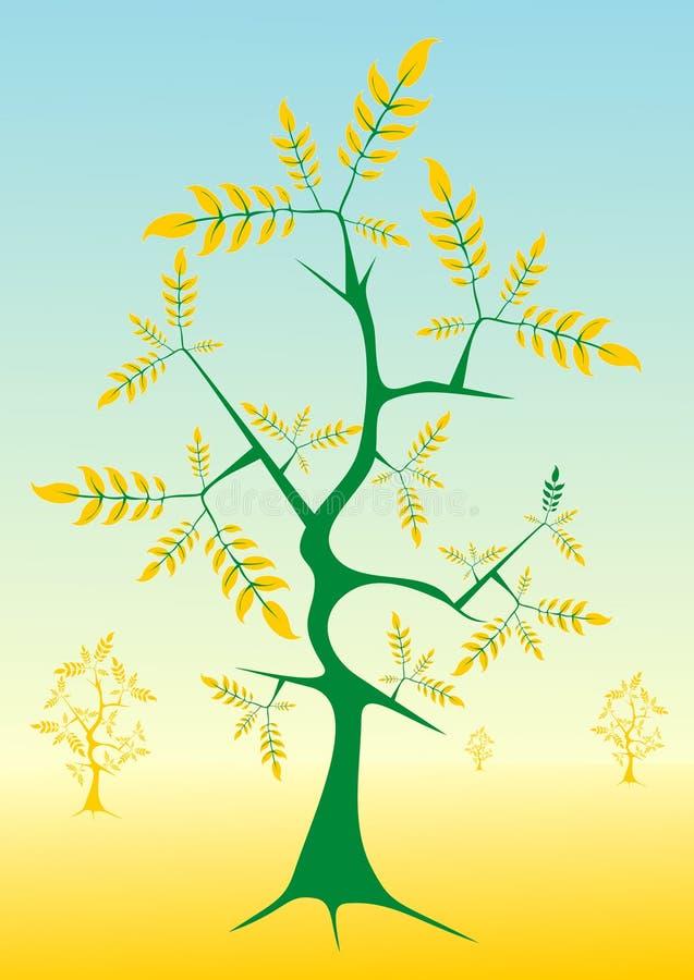 złote liście ilustracji