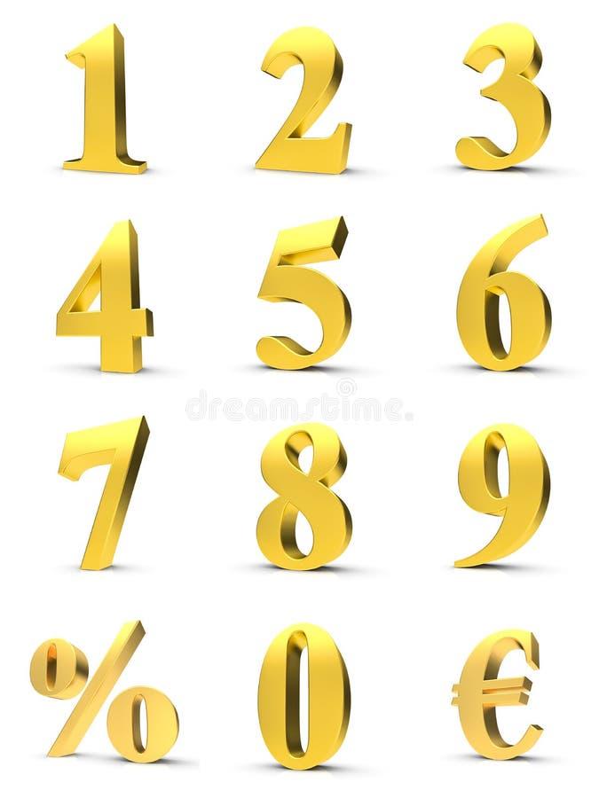 złote liczby ilustracji