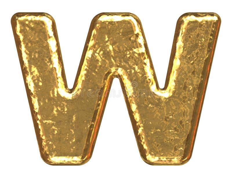 złote litery w font royalty ilustracja