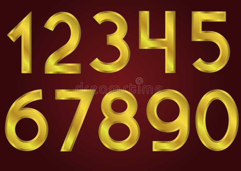 złote numery ilustracji