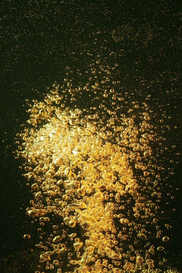 złote pęcherzyków powietrza fotografia stock