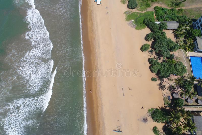 Złote plaże od widoku z lotu ptaka obraz stock