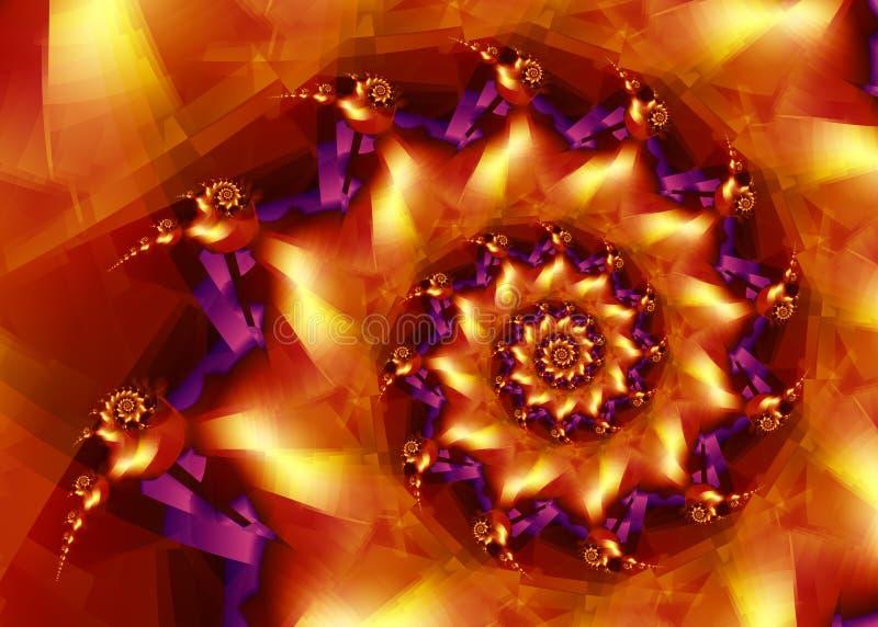 złote purpurowy royalty ilustracja