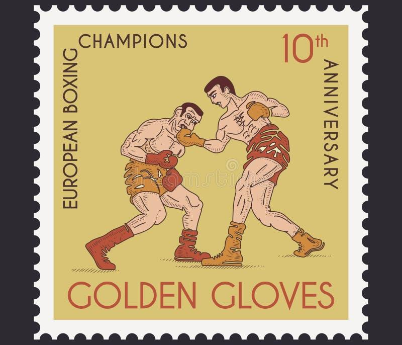 Złote rękawiczki ilustracja wektor