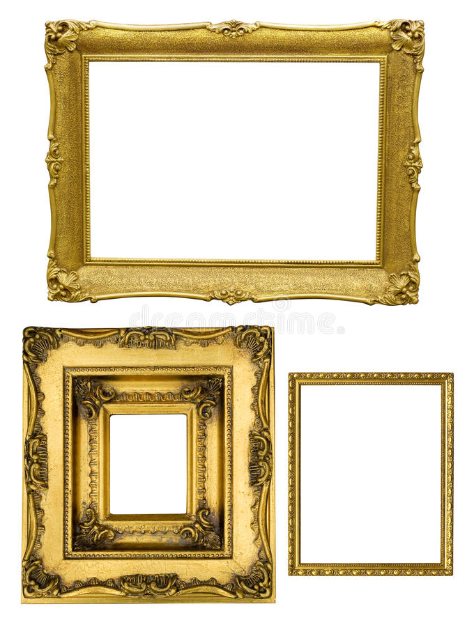 Złote ramy obraz stock