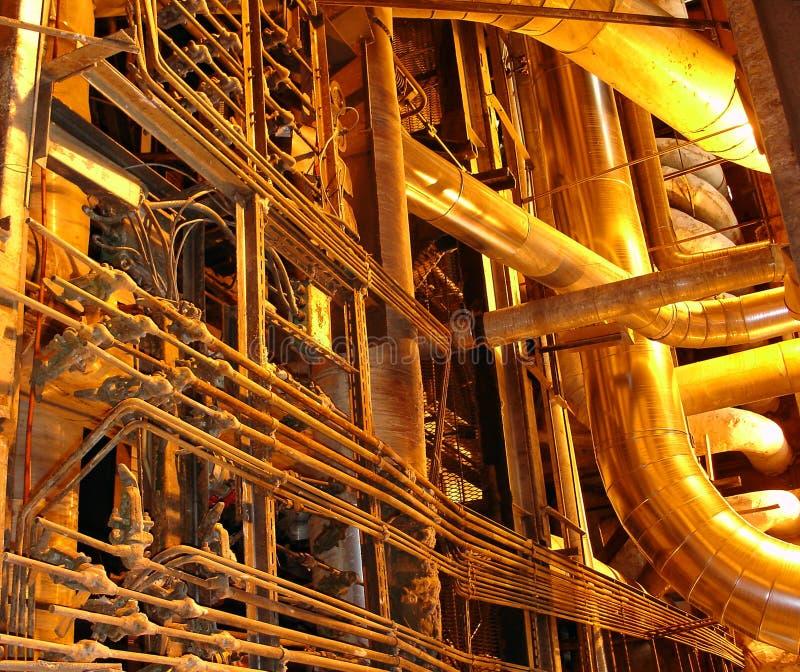 złote rurociągu. obrazy stock