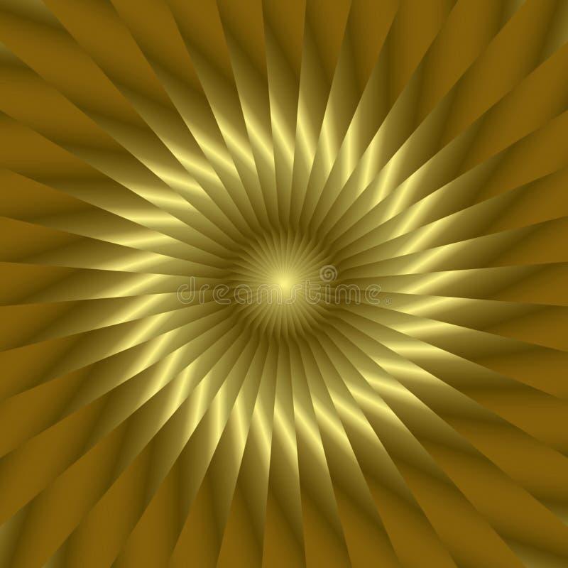 złote słońce słonecznik royalty ilustracja
